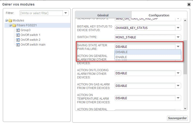 Zipabox : changer la configuration d'un périphérique