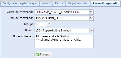 Association Radio avec la eeDomus