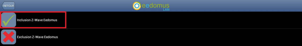 Inclusion App Android Eedomus 3