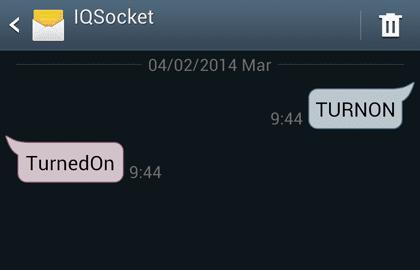 IQSocket commande TurnOn et réponse