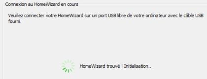 Application HomeWizard initialisation