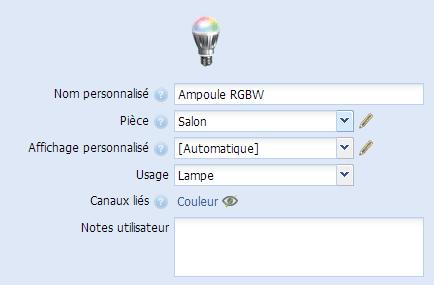 Ajout RGBW de Zipato dans l'eeDomus