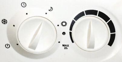 Radiateur : selecteur de mode et thermostat