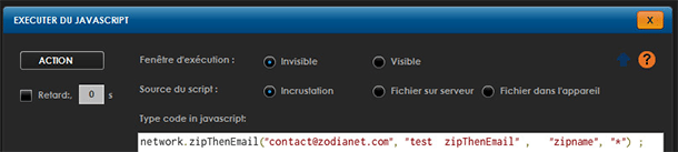 Zibase Multi : action exécuter Javascript