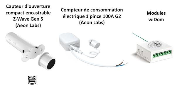 Nouveaux produits pris en charge par l'eedomus - avril 2015