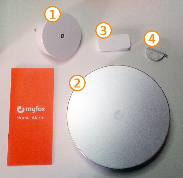 Unboxing MyFox Home Alarm : éléments