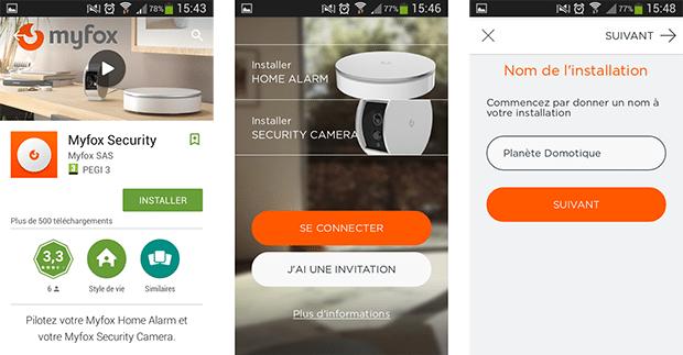 Installation de l'app pour Home Alarm