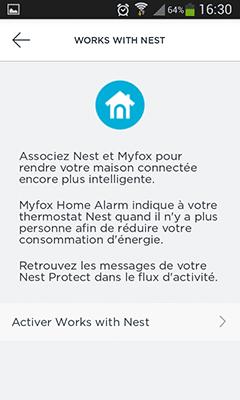 Ajout de thermostat Nest Home Alarm