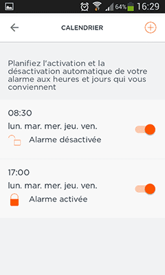 Home Alarm : planification