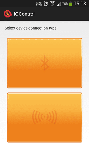 Application mobile : connexion GSM ou bluetooth