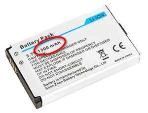 Capacité batterie en mAh
