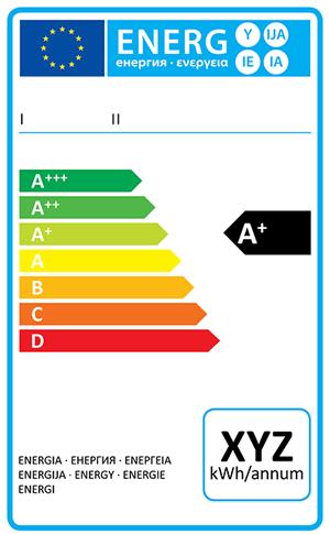 Exemple d'étiquette énergie