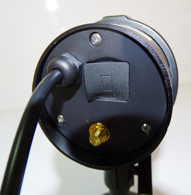 Connectique au dos de la caméra Visidom OC100