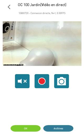 Vue de la caméra Visidom OC100