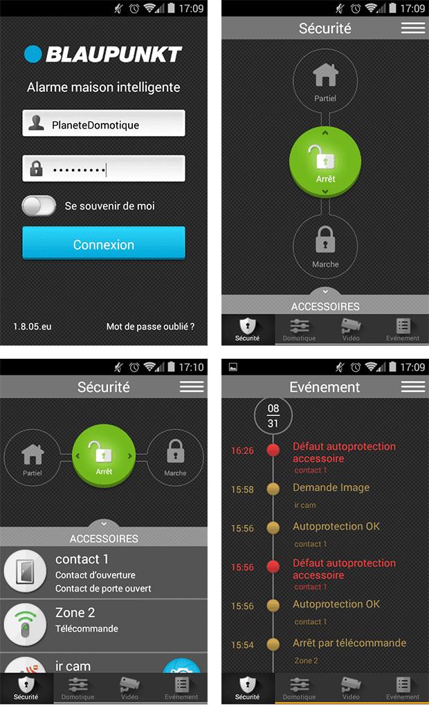 Blaupunkt Q3200 : application mobile