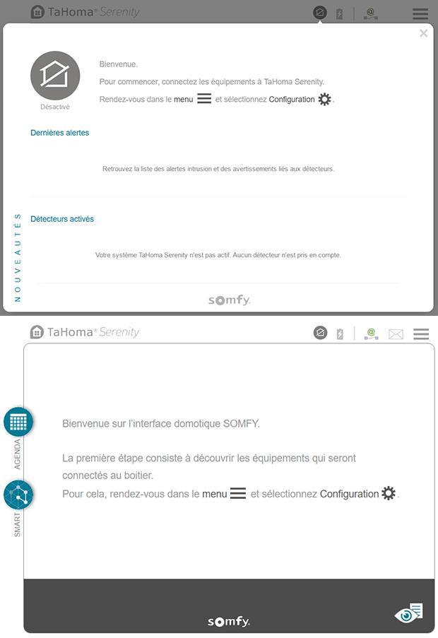 TaHoma Serenity : info de configuration
