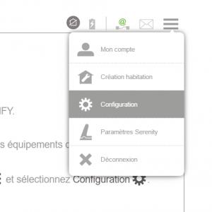 Somfy TaHoma : accéder à la configuration