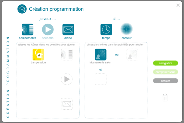 TaHoma Serenity : programmation smart