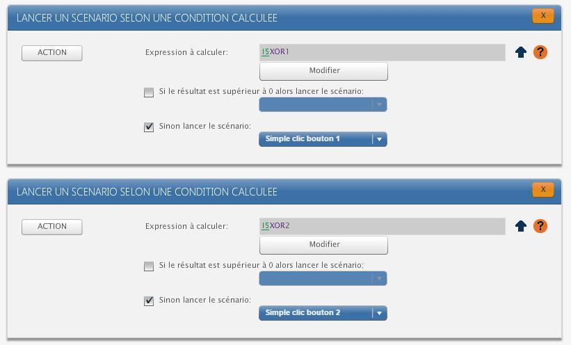 ZRC90 sur Zibase : conditions détection bouton