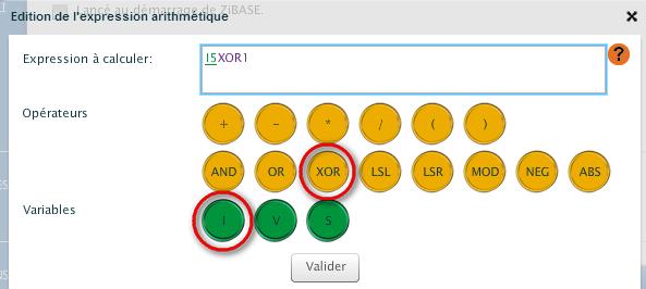 Remotec : saisie de la formule dans la Zibase
