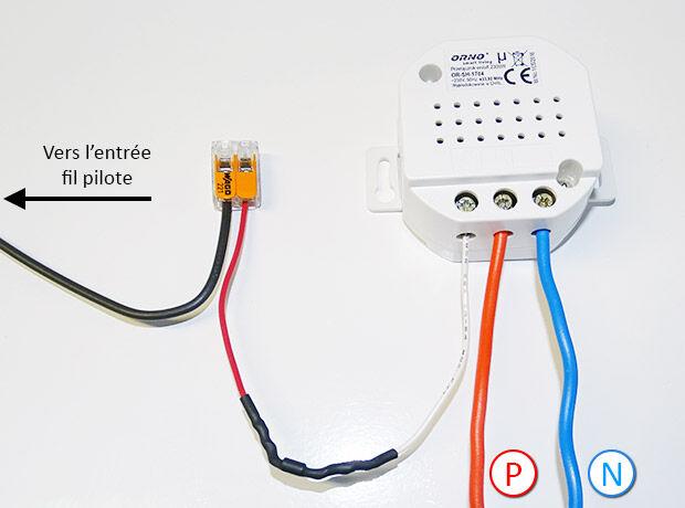 Schéma de branchement du kit fil pilote