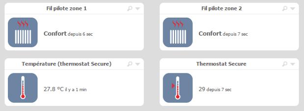 Multiple fils pilotes associés à un seul thermostat Secure