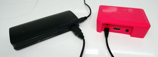 Powerbank pour secourir un Raspberry Pi : branchement