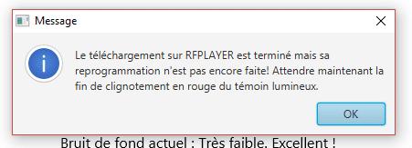 Mise à jour du RFPlayer : attente après envoi