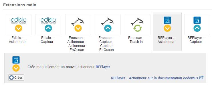 RFPlayer : création d'un actionneur