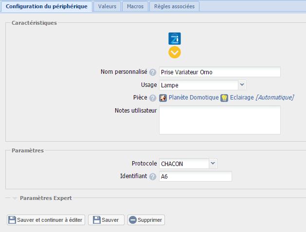Création d'un actionneur RFPlayer sur l'eedomus