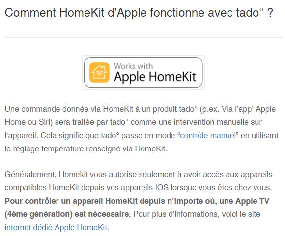 Tado Apple HomeKit