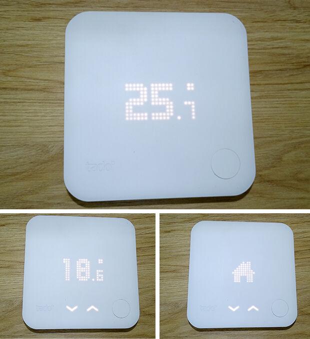 Tado° : écrans du thermostat