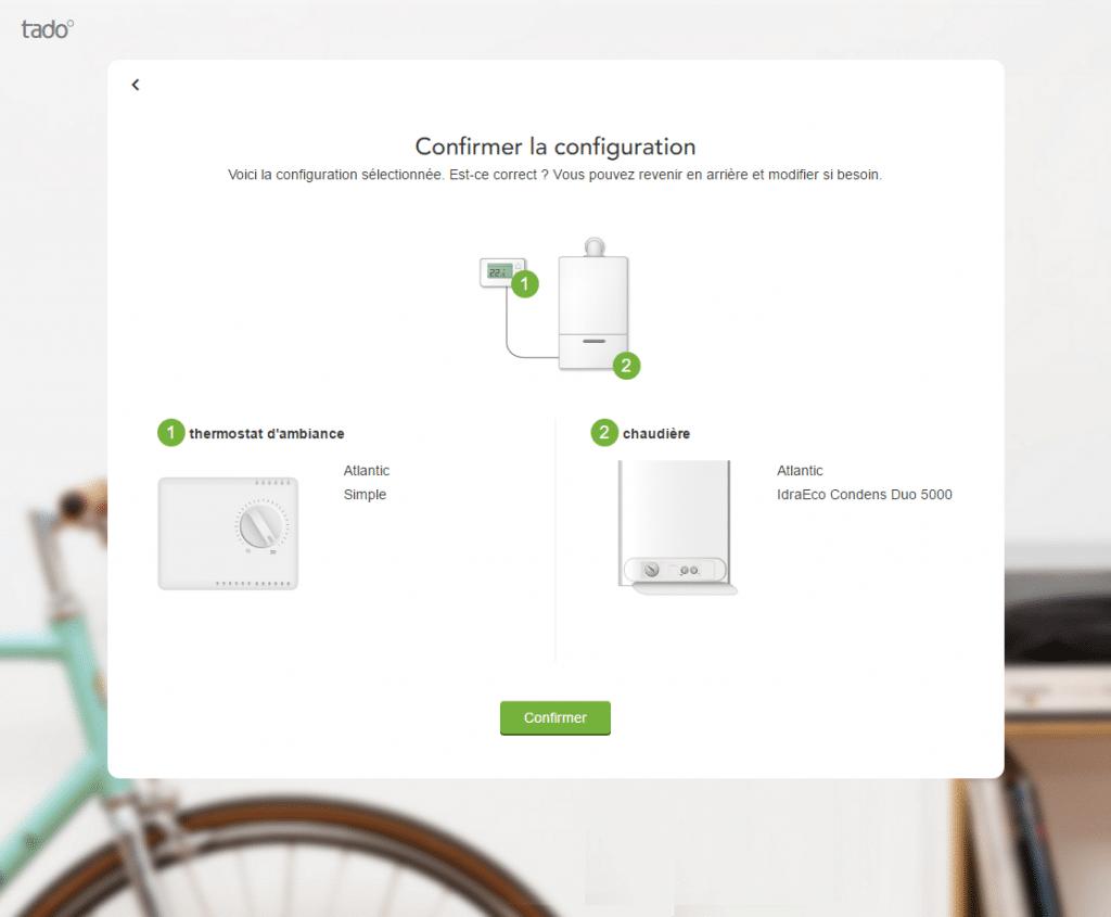 Tado° : validation de la configuration