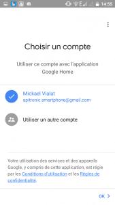 Connexion au compte Google