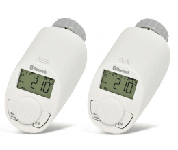 Pack de 2 têtes thermostatiques pour radiateur avec Bluetooth - eQ-3