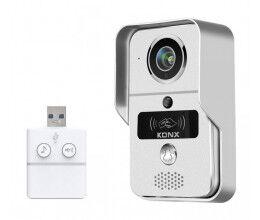 Portier audio et vidéo 720p Wi-Fi avec sonnette USB et lecteur RFID - Konx