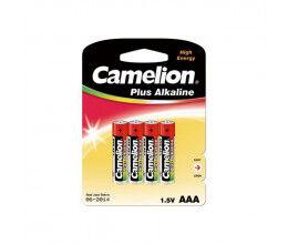 Blister de 4 piles 1.5V AAA Super Alcaline - Camelion