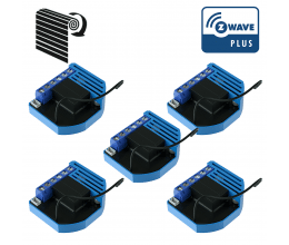 Pack de 5 modules Volets Roulants Z-Wave Plus encastrables - QUBINO