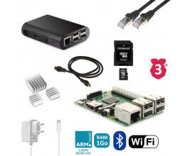 Kit de démarrage Raspberry 3B complet (alimentation, boitier, câbles...)