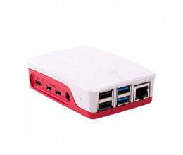 Boîtier Officiel Rouge et Blanc pour Raspberry Pi 4 - Raspberry