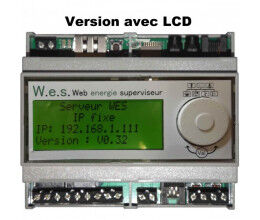 Serveur de suivi d'énergie Web energie superviseur v2 avec écran LCD inclus