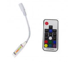 Mini Contrôleur Ruban LED RGB 12V avec télécommande RF433MHz - Wizelec