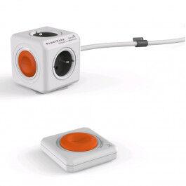 Bloc Multiprise (4 Prises) avec interrupteur, câble de 1.5m et télécommande- Allocacoc