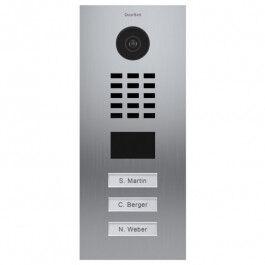 Portier vidéo connecté encastré 3 boutons D2103V - DoorBird