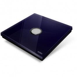 Plaque de recouvrement Diamond pour base Edisio - 1 touche, coloris Bleu Nuit