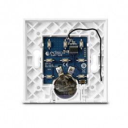 Interrupteur sans fil Edisio modèle Elegance Noir 4 touches avec base Blanche