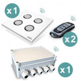 Pack préprogrammé Garden Solution récepteur extérieur 4 sorties 10A  - Edisio