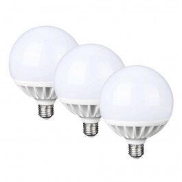 Lot de 3 ampoules Globe 20W blanc chaud - FamilyLed