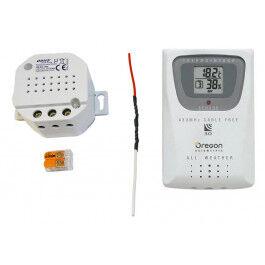 Kit gestion de chauffage fil pilote 433 MHz avec sonde température et humidité