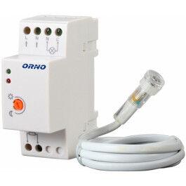 Détecteur crépusculaire rail DIN avec sonde externe - ORNO